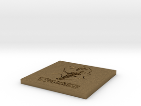 Persona 5 'Take Your Time' Themed Coaster  in Natural Bronze