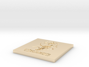 Persona 5 'Take Your Time' Themed Coaster  in 14K Yellow Gold