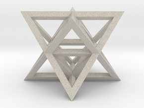 Tantric Star (aka Stellated Octahedron) in Natural Sandstone