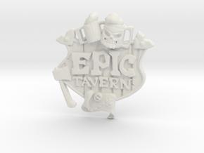 EPIC TAVERN Coat Of Arms in White Natural Versatile Plastic