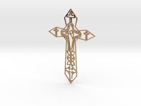 Personalised Enneper Cross Artwork in Polished Brass