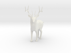 Deer in White Natural Versatile Plastic