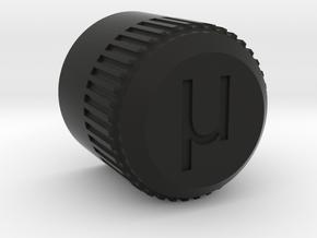 uBITX Encoder Knob in Black Premium Versatile Plastic