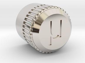 uBITX Encoder Knob in Platinum