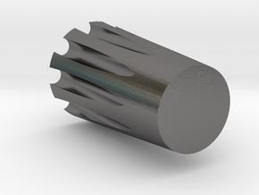 uBITX Volume Knob in Polished Nickel Steel