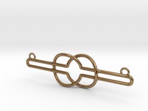 Nyansapo - Wisdom Knot in Natural Brass