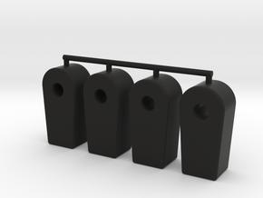 PB Mini Mustang Damper Eye v2 in Black Natural Versatile Plastic