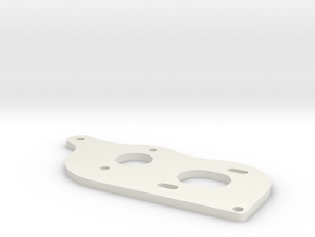 Team C 3/4 Gear laydown motor plate V2 in White Strong & Flexible