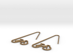 Amsterdam Bike Earrings in Natural Brass