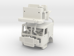 1/24 Seagrave 2 man cab in White Natural Versatile Plastic