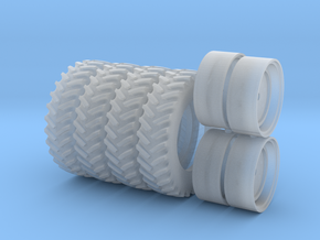 1/64 Scale 42 Inch Rear Wheels &Tires, No Spacers in Smooth Fine Detail Plastic