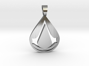Assassin [pendant] in Polished Silver