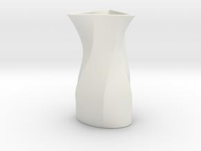Vase SI in White Natural Versatile Plastic