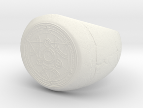 Alchemy Signet Ring in White Natural Versatile Plastic: 4 / 46.5
