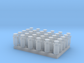 1:160 Milk Cans V2 - 30ea in Smooth Fine Detail Plastic