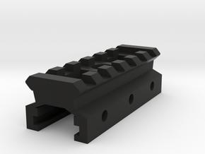 Nerf to Picatinny Adapter (6 Slots) in Black Premium Versatile Plastic