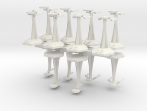 MicroFleet TMP Coalition Fast Attack Group (14pcs) in White Natural Versatile Plastic