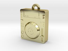 CDJ DJ Pendant 1000 in 18k Gold Plated Brass