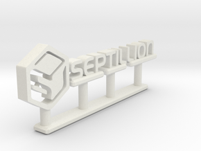 Septillion Logo in White Natural Versatile Plastic