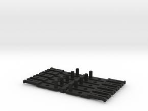 OO NEM Type 1 Coach Drawbar X10 in Black Natural Versatile Plastic