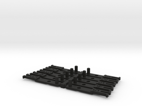 OO NEM Coach Drawbar Sample Pack in Black Natural Versatile Plastic