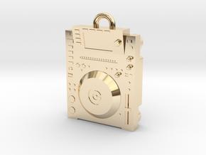 CD DJ Pendant 2000  in 14k Gold Plated Brass