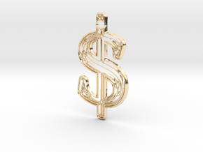 Dollar 1 in 14K Yellow Gold