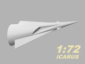 1:72 Icarus / Liberty 1 in White Strong & Flexible Polished