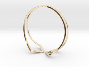 HIDDEN HEART Bracelet. Pure Elegance  in 14K Yellow Gold: Medium