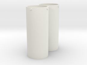 1:16 Panther Exhaust Cover in White Natural Versatile Plastic
