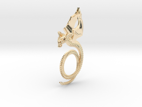 Scary Dragon pendant in 14k Gold Plated Brass