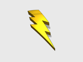 Lightning Bolt : Right Shoulder Insignia pack in Smooth Fine Detail Plastic