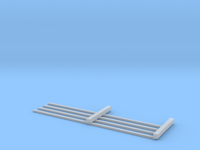 HO Scale 4 rail Fence MK.1 in Smooth Fine Detail Plastic