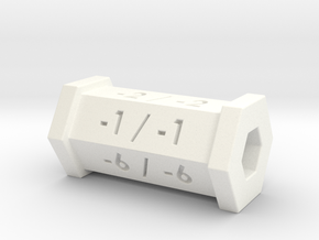 -1/-1 Counter in White Processed Versatile Plastic