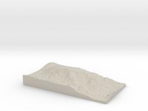 Model of Mount Cilley in Natural Sandstone