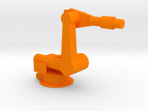 4-Axis Industrial Robot V03 in Orange Strong & Flexible Polished