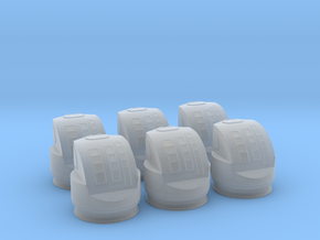 1/200 IJN Machine Gun Control Tower set x6 in Smooth Fine Detail Plastic