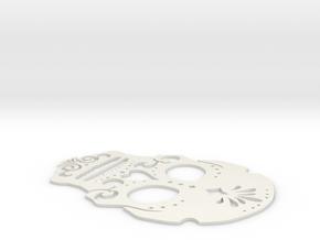 Day of dead stencil (coaster size) in White Natural Versatile Plastic