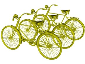 1/20.3 scale WWII Wehrmacht M30 bicycles x 3 in Smooth Fine Detail Plastic