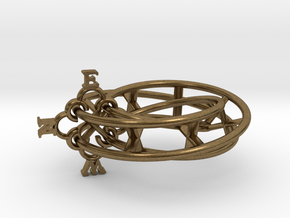 Mobius Compass  in Natural Bronze (Interlocking Parts)