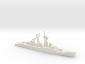 Salisbury-class frigate, 1/2400 in White Natural Versatile Plastic