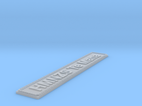 Nameplate HMNZS Te Mana in Smoothest Fine Detail Plastic