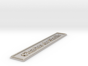 Nameplate Charles de Gaulle in Rhodium Plated Brass