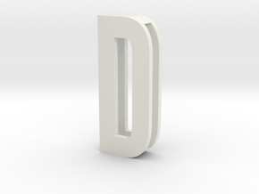 CHOKER SLIDE LETTER D 1⅛, 1¼, 1½, 1¾, 2 inch sizes in White Strong & Flexible: Medium