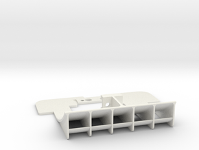 Mini-Z Sauber C9 rear diffuser for PN motor mount in White Natural Versatile Plastic