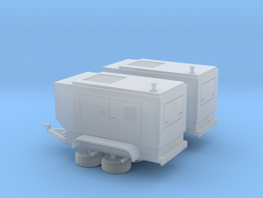 N Diesel Generator - 2 pack in Smooth Fine Detail Plastic