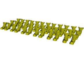 1/35 scale military boot B pairs x 18 in Smoothest Fine Detail Plastic