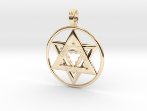 MIND, BODY, SPIRIT TRINITY in 14k Gold Plated Brass
