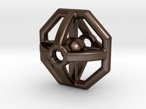 Simon's bead in Polished Bronze Steel