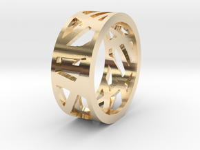 Double Sided Ring in 14K Yellow Gold: 7 / 54